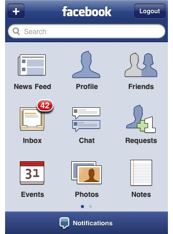Facebook on the iPhone